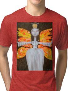 Mademoiselle Butterfly  Tri-blend T-Shirt