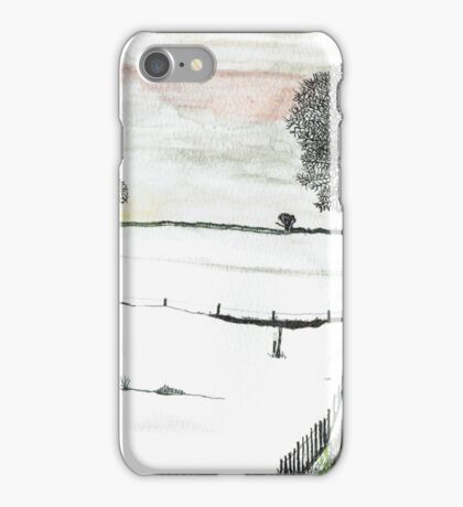 YORKSHIRE SNOW SCENE 2 iPhone Case/Skin