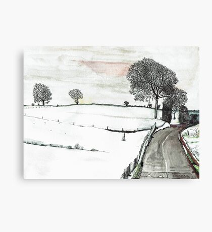 YORKSHIRE SNOW SCENE 2 Canvas Print