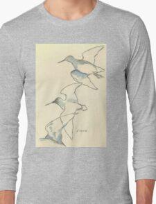 Sketching birds Long Sleeve T-Shirt