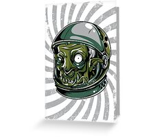 Psychedelic Alien Zombie Astronaut Greeting Card