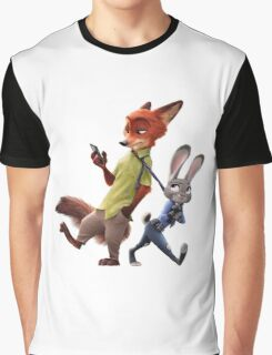 Zootopia - Nick and Judy Graphic T-Shirt