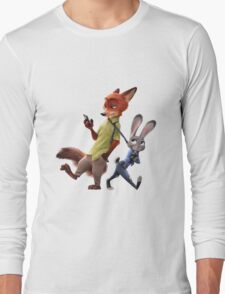 Zootopia - Nick and Judy Long Sleeve T-Shirt