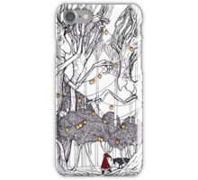 little red and little wolf iPhone Case/Skin