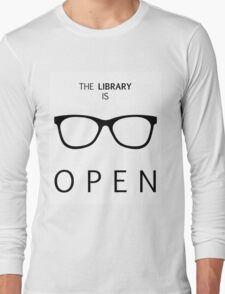 The Library is Open Long Sleeve T-Shirt