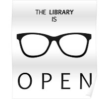 The Library is Open Poster