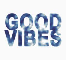 Good Vibes (blue pattern) Kids Tee
