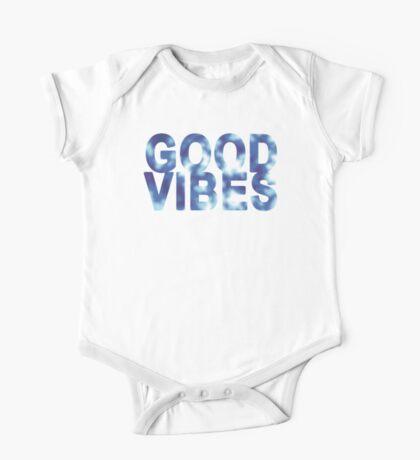 Good Vibes (blue pattern) One Piece - Short Sleeve