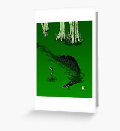Swamp Dragon Greeting Card
