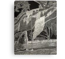 Scratchboard Landscape Canvas Print