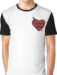 Tigers Jaw Heart Decal Graphic T-Shirt