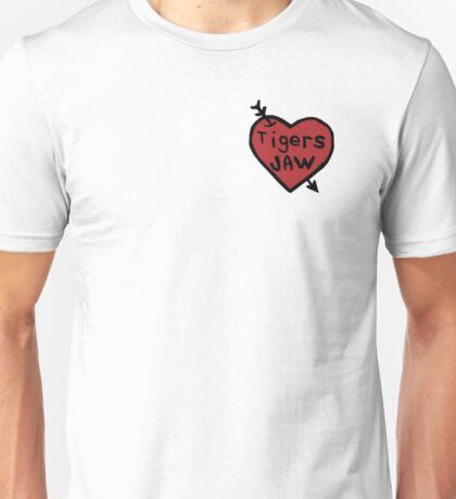 Tigers Jaw Heart Decal Unisex T-Shirt