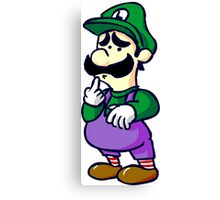 sad luigi Canvas Print