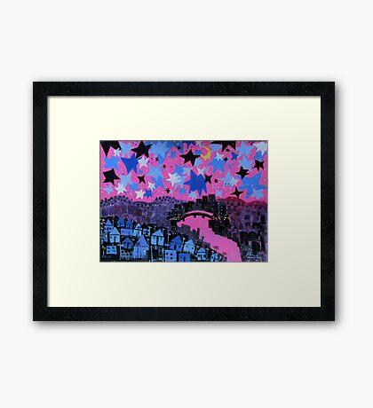 winter stars Framed Print