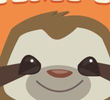 Sloths Nap Like Champions Sticker