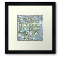 Megatropolis, Pumpkin District Framed Print