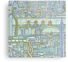 Megatropolis, Pumpkin District Metal Print