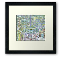Megatropolis, Caterpillar District  Framed Print