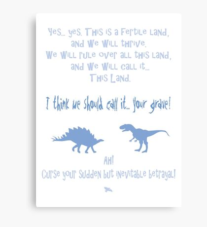 curse your sudden but inevitable betrayal, firefly, light blue Canvas Print