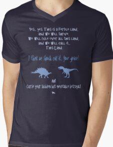 curse your sudden but inevitable betrayal, firefly, light blue Mens V-Neck T-Shirt