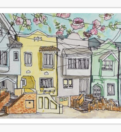 San Francisco Houses #3 Sticker