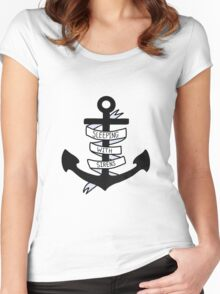 SWS Anchor Women's Fitted Scoop T-Shirt