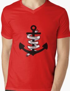 SWS Anchor Mens V-Neck T-Shirt