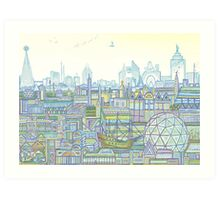 Megatropolis, Marina District Art Print