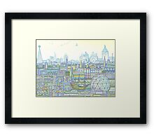 Megatropolis, Marina District Framed Print