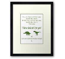 curse your sudden but inevitable betrayal, green, firefly Framed Print