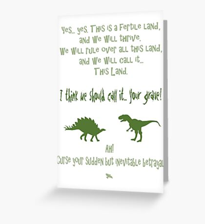 curse your sudden but inevitable betrayal, green, firefly Greeting Card