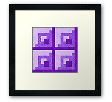 Purple Pixel Blocks Framed Print