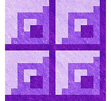 Purple Pixel Blocks Photographic Print