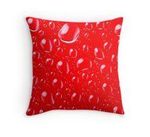 Red Rain Drops Throw Pillow