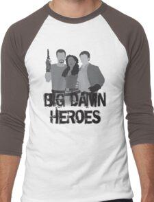 Big Damn Heroes - Firefly poster Men's Baseball ¾ T-Shirt