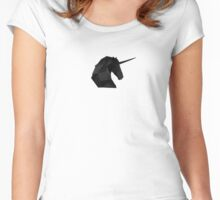 Inglorious Unicorns | Cosmic Black Women's Fitted Scoop T-Shirt