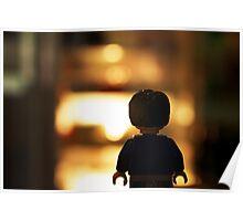Minifigure on Night Walk Poster