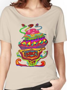 Psychedelic Alien Women's Relaxed Fit T-Shirt