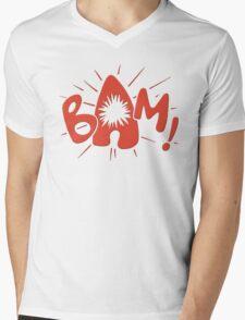 Batman fight scene graphic Mens V-Neck T-Shirt
