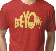 Batman fight scene graphic Tri-blend T-Shirt