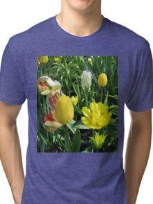Sunlit Yellow Tulips - Keukenhof Gardens Tri-blend T-Shirt