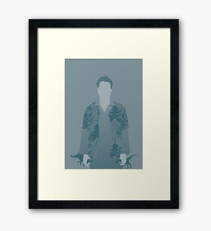 wash, firefly Framed Print