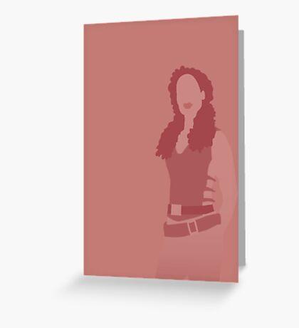 zoe, firefly Greeting Card