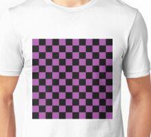 Checkered Purple and Black  Unisex T-Shirt
