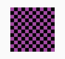 Checkered Purple and Black  Unisex T-Shirt