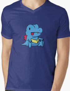 Derp Totodile Mens V-Neck T-Shirt