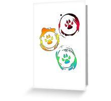Pretty Paw Prints Greeting Card