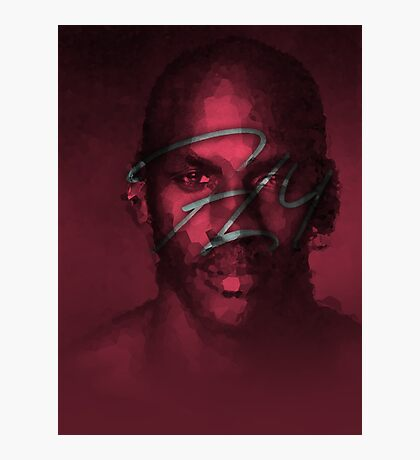 FLY - NBA Michael Jordan Bulls Polygon Art Photographic Print
