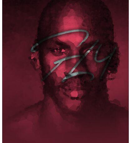 FLY - NBA Michael Jordan Bulls Polygon Art Sticker