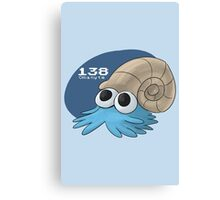 Pokemon #138: Omanyte Canvas Print